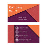 Business card with abstract background of lines. Business cards set. Space for company name, address, phone, email. Visit card blank, template.  Business card Stock Photos