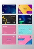 Business card abstract background simple modern design vector illustration