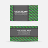 Business card with abstract background. Vector Illustration Stock Photography