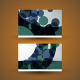 Business Card with Abstract Circles Pattern Royalty Free Stock Image