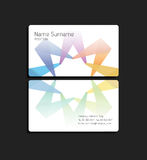 Business card with abstract colorful element. Stock Photography