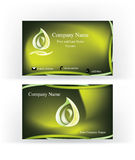 Business card with abstract e letter Stock Images