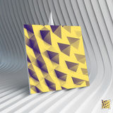 Business card. Abstract geometric polygonal Royalty Free Stock Image