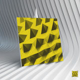 Business card. Abstract geometric polygonal Royalty Free Stock Photos