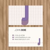 Business card with alphabet letter on a wood background Royalty Free Stock Photography