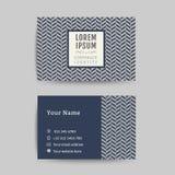 Business card art deco design template 02 Stock Image