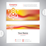 Business card - atomic Structure - laboratory research Stock Photo