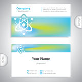Business card - atomic symbol - laboratory research Royalty Free Stock Photo