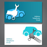 Business card for auto repair Stock Photo