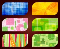 business card backgrounds Stock Images