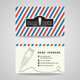 Business card - Barber shop and hair clippers logo vector design stock illustration