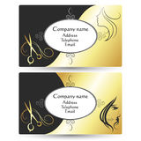 Business card for beauty salon and barber shop Stock Photography