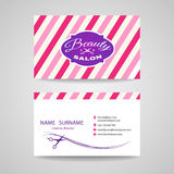 Business card beauty salon - pink tone vector design Stock Photo