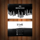 Business card with black paint drips Stock Photo