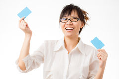 Business card and blank sign Royalty Free Stock Photography