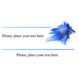Business card blue. Author Abstract blue business card Royalty Free Stock Images
