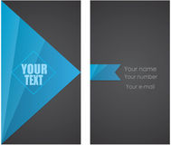Business Card. Blue and black business card Stock Photography