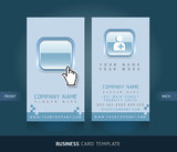 Business Card with Blue buttons. Stock Image
