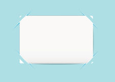 Business card blue holder Royalty Free Stock Images