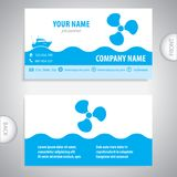 Business card - Boat propeller - maritime symbols Royalty Free Stock Photo