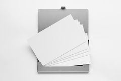 Business card in box 4. Business card in box in the white background Stock Images