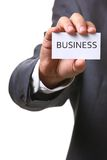 Business card with business Stock Images