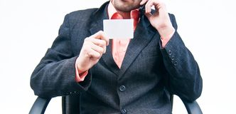 Business card with business man Royalty Free Stock Photos
