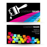 Business card for businesses painting Stock Photos