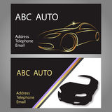Business card car Royalty Free Stock Images