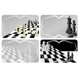 Business card with chess Stock Image