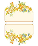Business card classic color. Business card ornamental floral classic color vector illustration