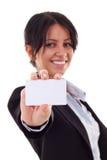 Business card closeup Royalty Free Stock Photography