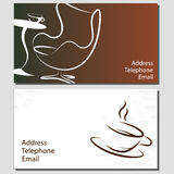 Business card coffee Stock Photo