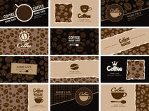 Business card coffee Royalty Free Stock Images