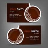 Business card coffee Royalty Free Stock Image