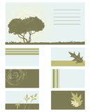 Business card -  collection. Business card - 2d  collection Royalty Free Stock Images