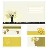 Business card -  collection. Business card - 2d  collection Stock Images