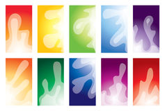 Business card collection Royalty Free Stock Photography