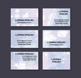 Business card collection. Abstract shining glow decorative elements with transparent layout Stock Photos