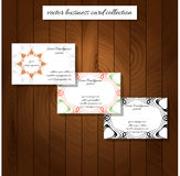 Business card collection vector illustration Royalty Free Stock Image