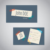 Business card with color tapes Royalty Free Stock Image
