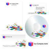 Business card for Company - Letterhead template. Business card for Company and Letterhead Template design stock illustration