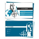 Business card concept of Geodesy and Cartography Stock Photography