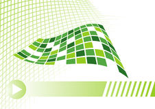 Business card concept in green with net royalty free illustration