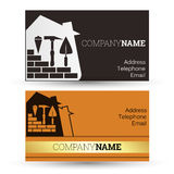 Business card construction Royalty Free Stock Photos