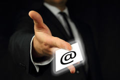 Business card, contact Royalty Free Stock Photography