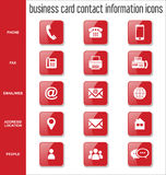 Business card contact information icons collection. Illustration Royalty Free Stock Images
