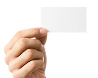 Business card with copy space Royalty Free Stock Photos