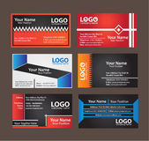 Business Card. With costum element royalty free illustration