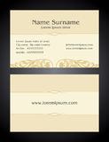 Business Card creative design, vintage, elegant style Royalty Free Stock Images